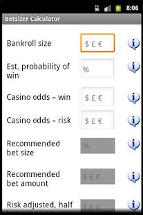 Betsizer - Gambling Calculator- screenshot thumbnail