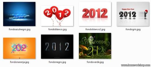 Fondos de año nuevo 2012 para descargar