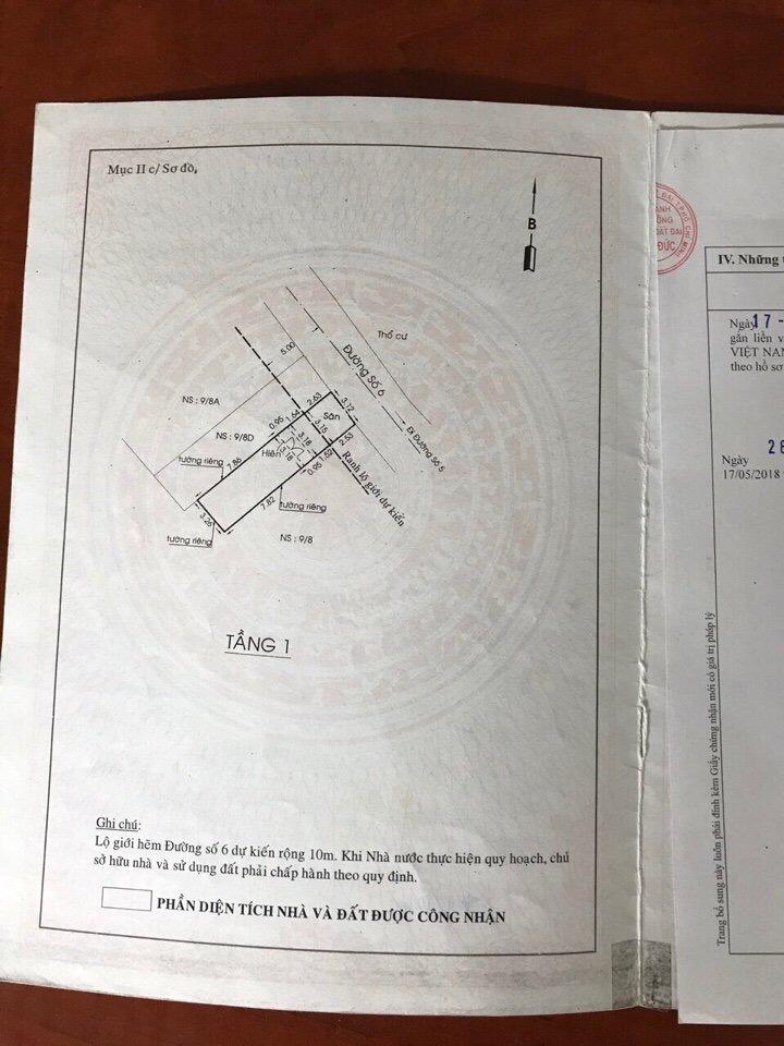 Bán nhà Mặt Tiền Đường Phường Linh Tây Thủ Đức, diện tích 3,12x13,8m (nở hậu 3,26m), 1 trệt 1 lầu, giá 3,5 Tỷ.2
