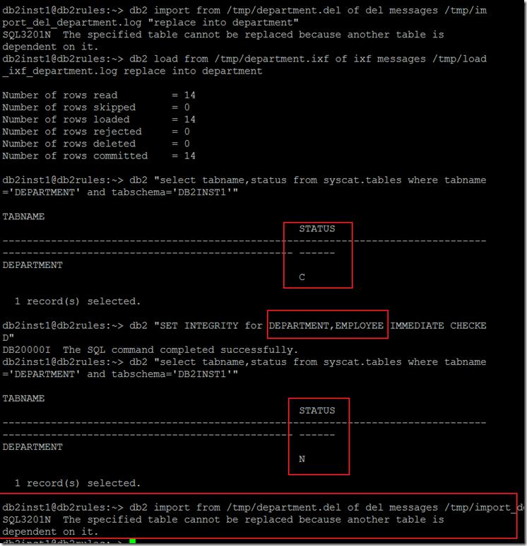 DB2 Export/Import/load | SQL Panda