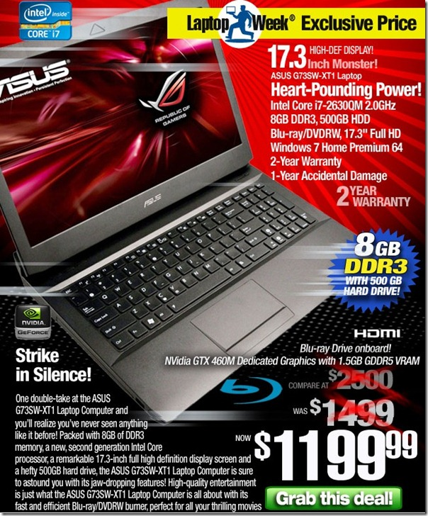 oferta laptop asus tigerdirect