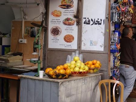 Imagini Palestina: Fast food Ierusalim