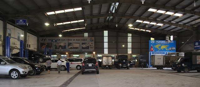Xưởng bảo hành, sửa chữa xe tải Hyundai Đông Nam