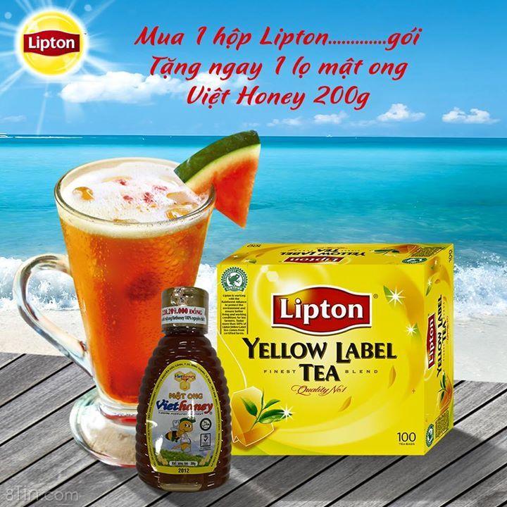"""Wow, Lipton lại có chương trình khuyến mãi mới """"siêu ngọt ngào"""","""