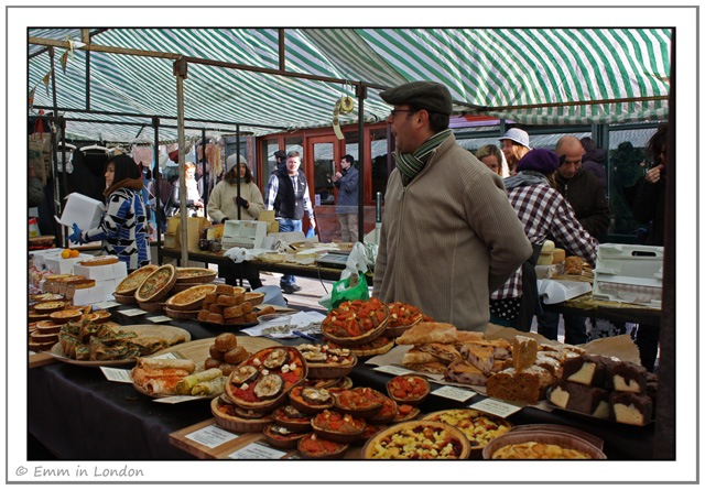 Delicious pies and quiches at Broadway Market
