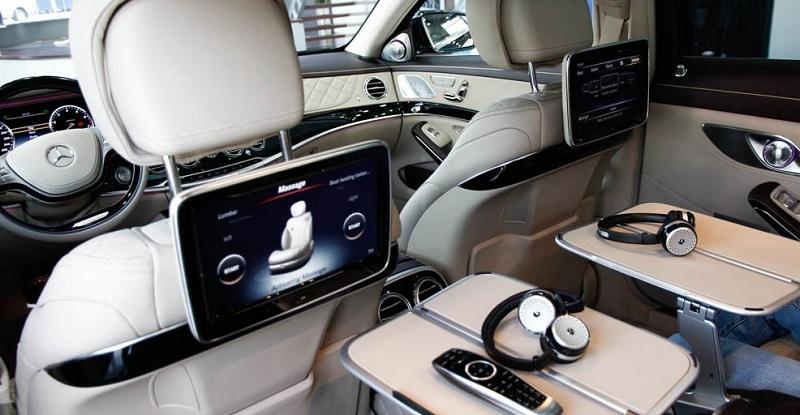 Nội Thất Xe Mercedes Benz S600 MAYBACH Màu Đen 026