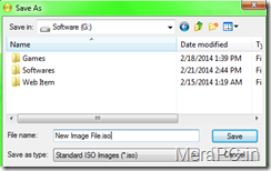 Saving Image file to ISO format