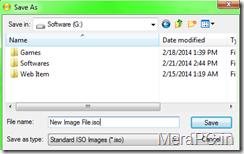 Saving Image file to ISO format