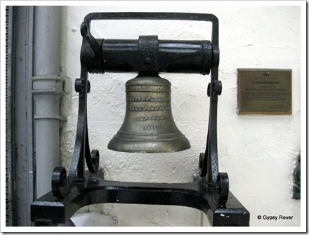 This bell was made in 1858 when the Inverness railway station opened.