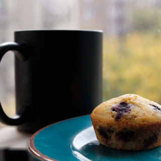 Honey Blueberry Corn Muffins