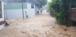 Nhiều khu vực nước chảy xiết.