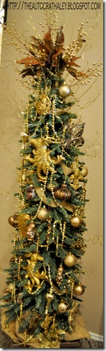 GOLD CHRISTMAS TREE (9)