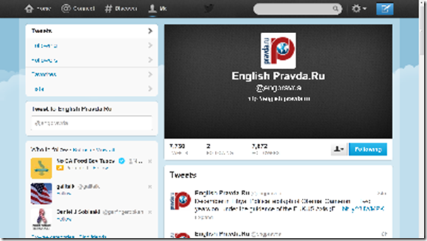 Pravda twitter screenshot