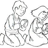 Colorear Dibujos De Niños Rezando
