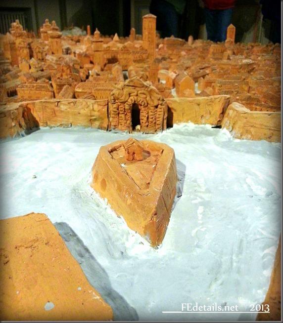 Plastico della città di Ferrara nel Castello Estense, Model of the city of Ferrara in Castello Estense, Ferrara, Italy , Photo2