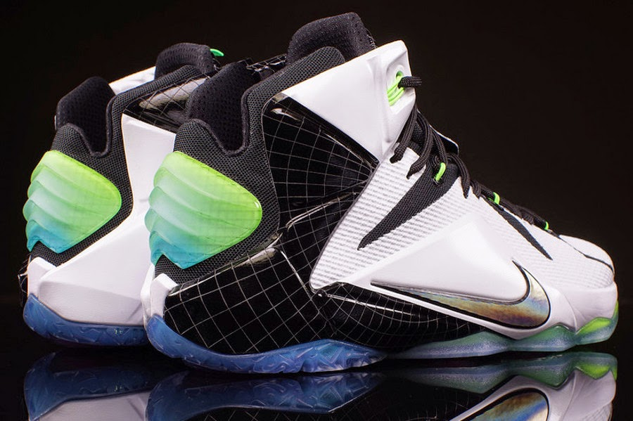 e076321c967 742549-190 White Multi-Color-Black. Release Reminder Nike LeBron XII 12 All  Star 8220Zoom City8221 ...