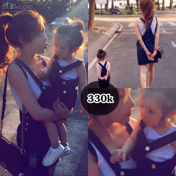 Đầm mẹ bé Denim 330k ✔ Chất liệu: Denim ✔ Màu sắc: