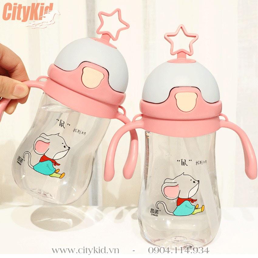 Bình tập uống nước cho bé có ống hút