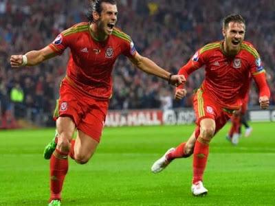 Super Bale sút phạt đẹp mắt mở tỷ số cho xứ Wales