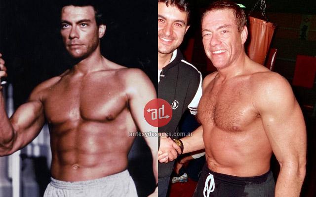 Antes y despues de Jean Claude Van Damme