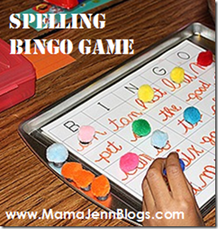 Spelling Practice with BINGO