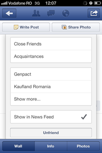 Facebook Show in News Feed mobile