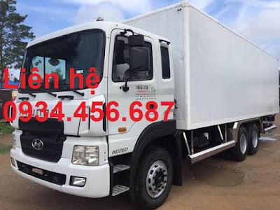 Xe tải 3 chân Hyundai HD260 thùng kín tải trọng 15 tấn