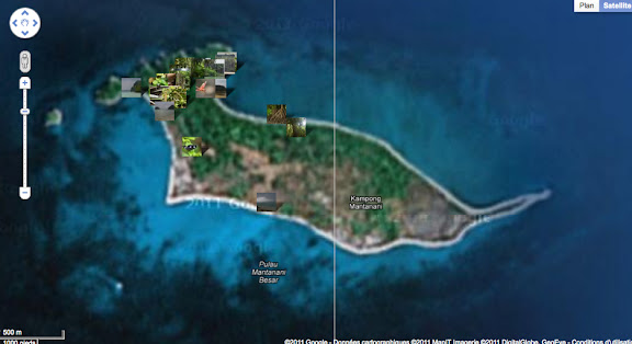 Localisation des photos sur Pulau Mantanani