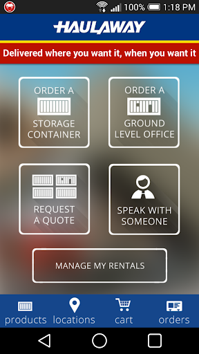 Haulaway Storage Container App