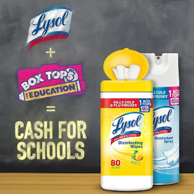 As the only disinfectant brand with Box Tops you can now earn