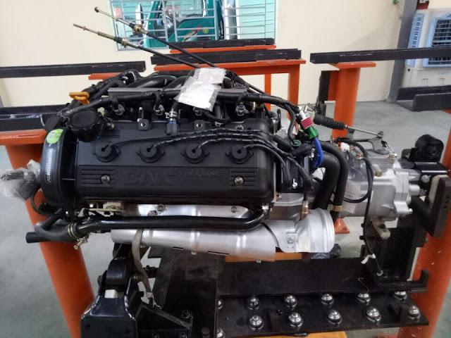 Động cơ xe tải van 2 chỗ Kenbo 950kg sử dụng động cơ xăng công nghệ Mỹ