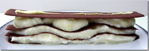 Millefeuille of Chocolate Tuiles and Apple Snow
