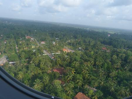 Imagini din avion: aterizare Colombo Sri Lanka