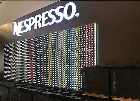 NESPRESSO COFFEE TRIESTE NAPLES NEW FLAVOURS SAVOUR 2013 VESPA TOUR SINGAPORE per sleeve duo pack retail Nespresso Flagship Boutiques New York, Miami, Boston,