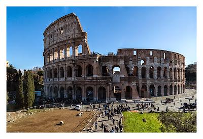Rom: Geocaching bei den alten Römern: Forum Romanum - Blick auf das Kolosseum