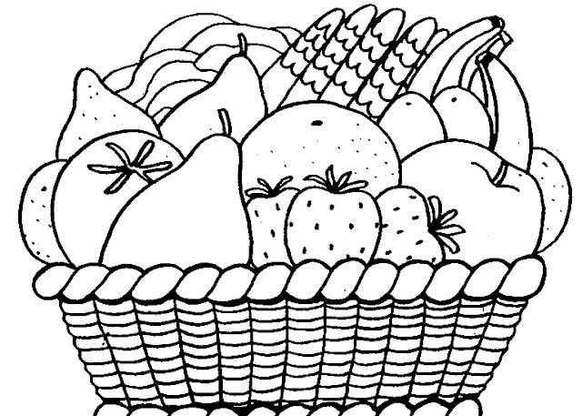 Canasta De Frutas Para Colorear Imagui