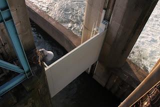 閘門(下流側)を望む