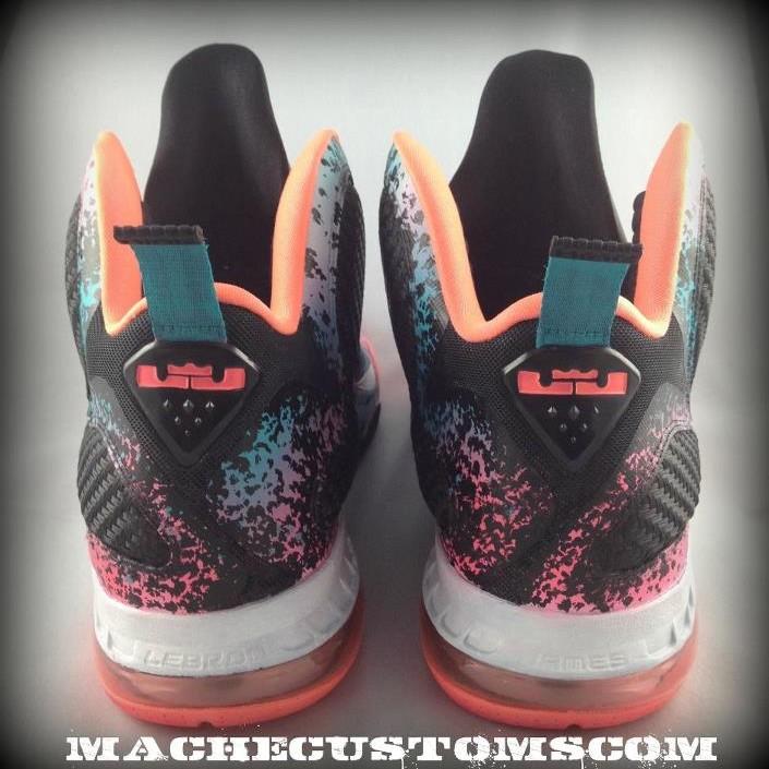 promo code bee25 ad85c Nike LeBron 9 Flamingo aka 8220Miami Nights8221 Custom by Mache . ...