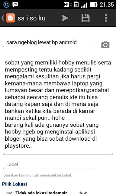 cara ngeblog lewat hp android - blog
