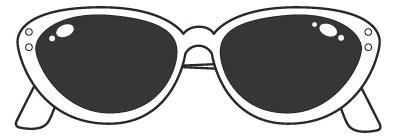 Dibujos De Gafas De Sol Para Colorear