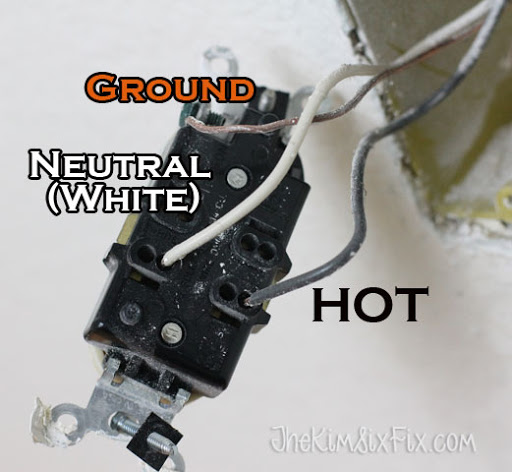 how to replace electrical outlets using quickwire push in rh thekimsixfix com Electrical Wiring Black White Green Bare Wiring Black White