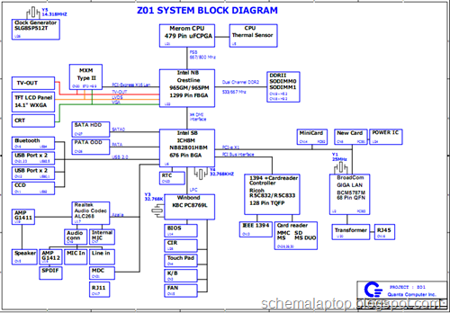 acer aspire 4320 4720 4720g 4720z 4725z, quanta z01 free download laptop motherboard  schematics