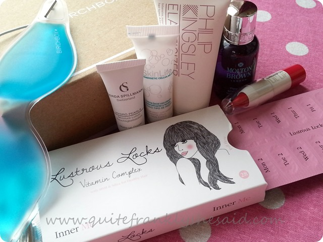 Birchbox August beauty box instyle  6 contents