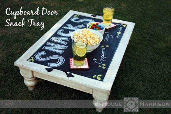 cabinet door snack tray