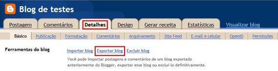Exportar blog