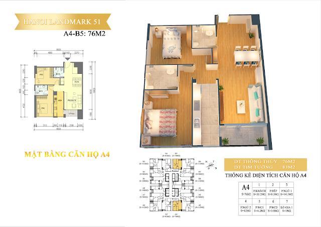 căn hộ A4-B5- chung cư hanoi landmark51