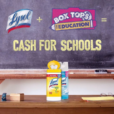 Lysol is the only disinfectant brand with Box Tops so every time
