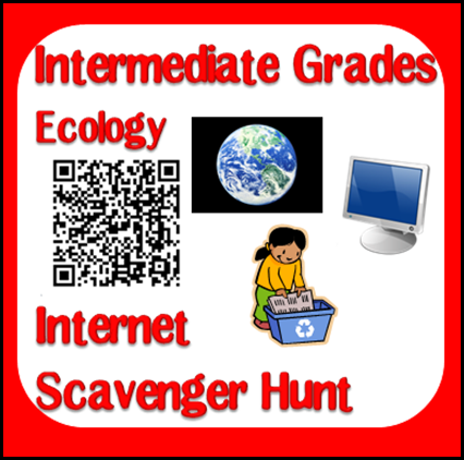 Free Ecology Internet Scavenger Hunt for Earth Day. Download now from Raki's Rad Resources.