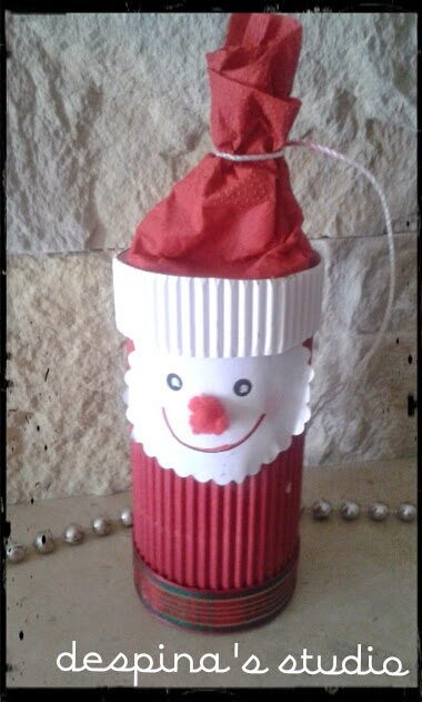 DIY quick Christmas craft : Santa Claus from toilet paper roll