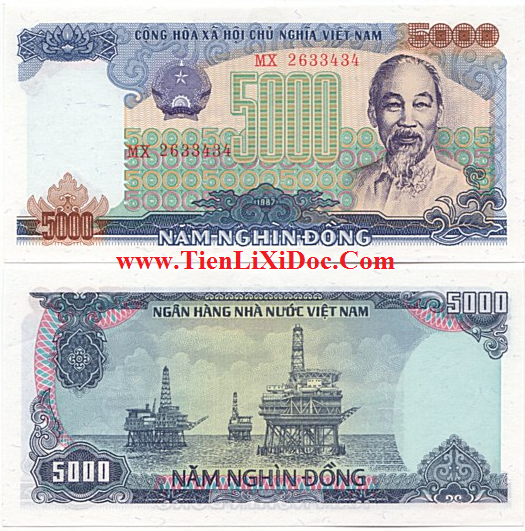 5.000 đồng Việt Nam 1987